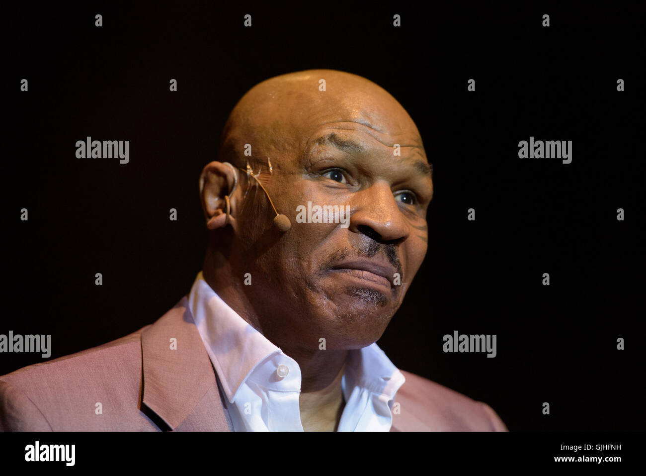 Buenos Aires, Argentina - Jul 7, 2016: Mike Tyson during his show Undisputed Truth at the Luna Park Stadium. Anton - Stock Image