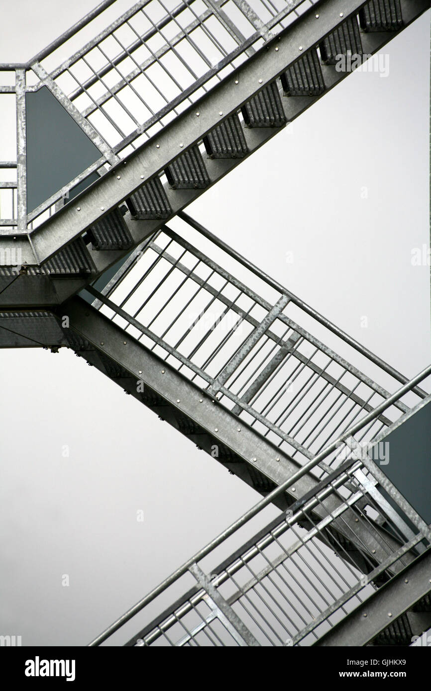 stairs style of construction architecture Stock Photo