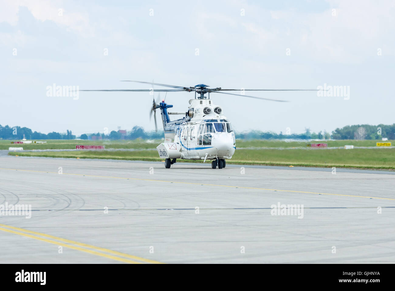 """Medium utility helicopter Eurocopter AS532U2 """"Cougar"""". German Air Force (Luftwaffe). - Stock Image"""