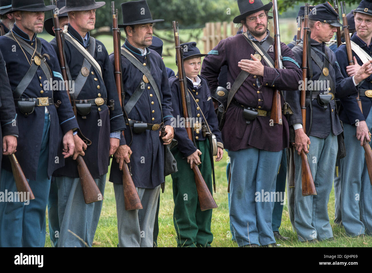 Reenactment Of The American Civil War Stock Photos