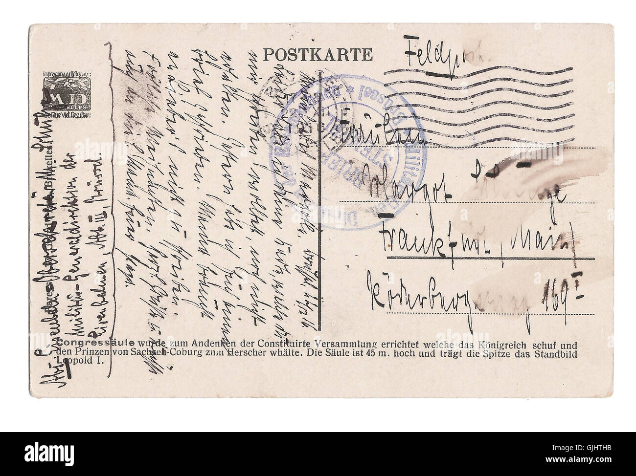 antique vintage written - Stock Image