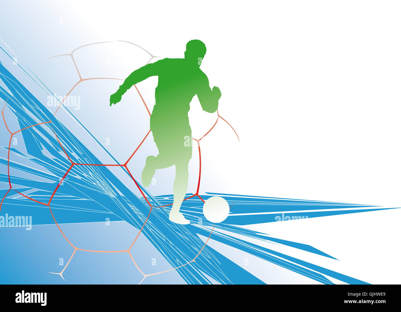 team sport kicker sport - Stock Image