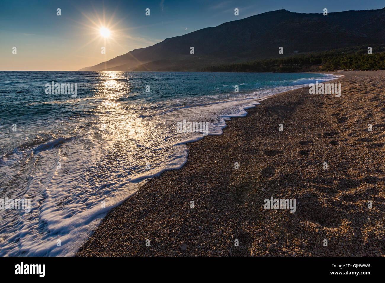 Zlatni Rat beach. Bol, island Brac, Croatia. Stock Photo