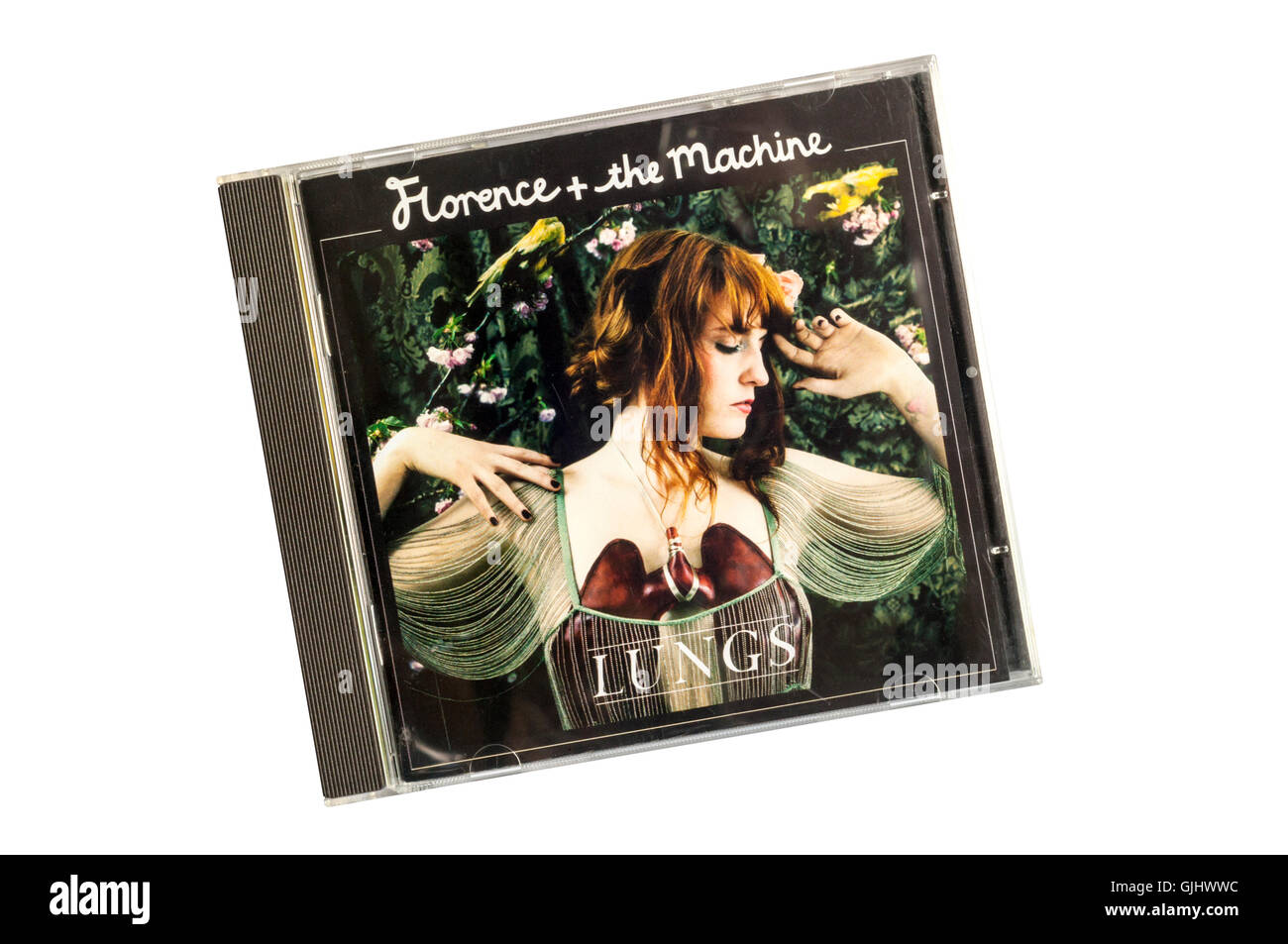 Lungs was the first studio album by Florence and the Machine. Released by Island Records in 2009. - Stock Image