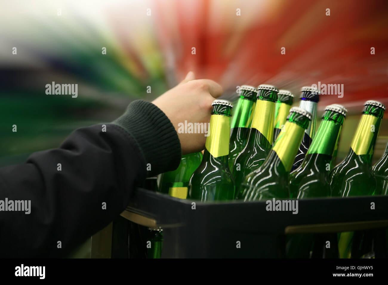 alcohol consumption - Stock Image