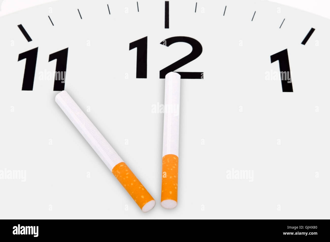 cigarette nonsmoker nicotine - Stock Image