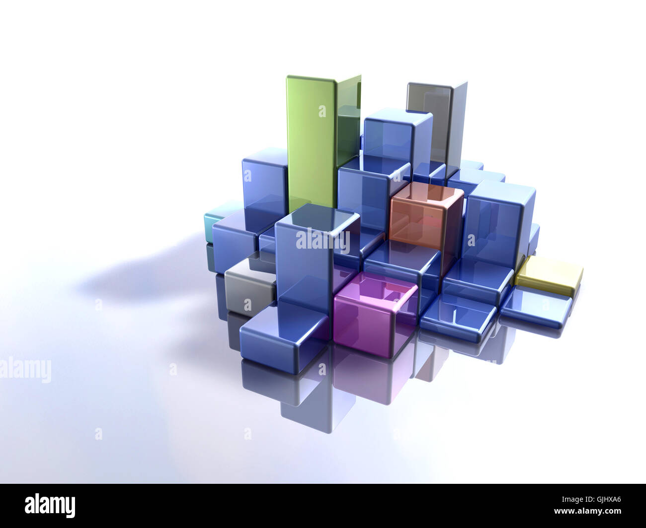 three-dimensional futuristic digital - Stock Image