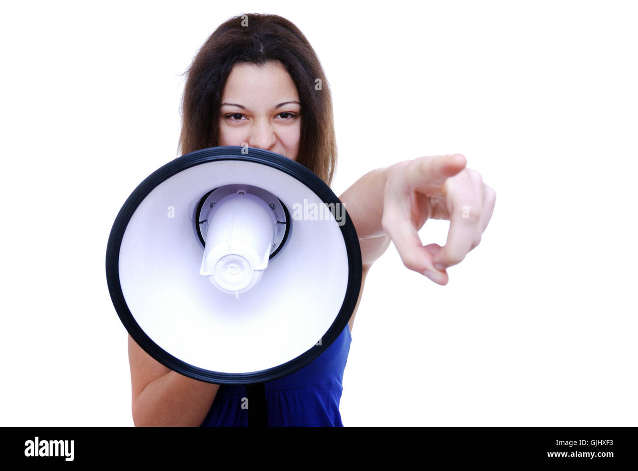 loudly - Stock Image