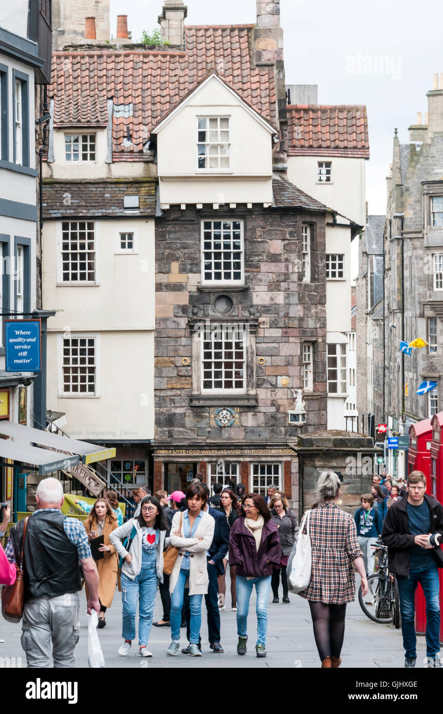 John Knox's House in Canongate on the Royal Mile in Edinburgh. Stock Photo