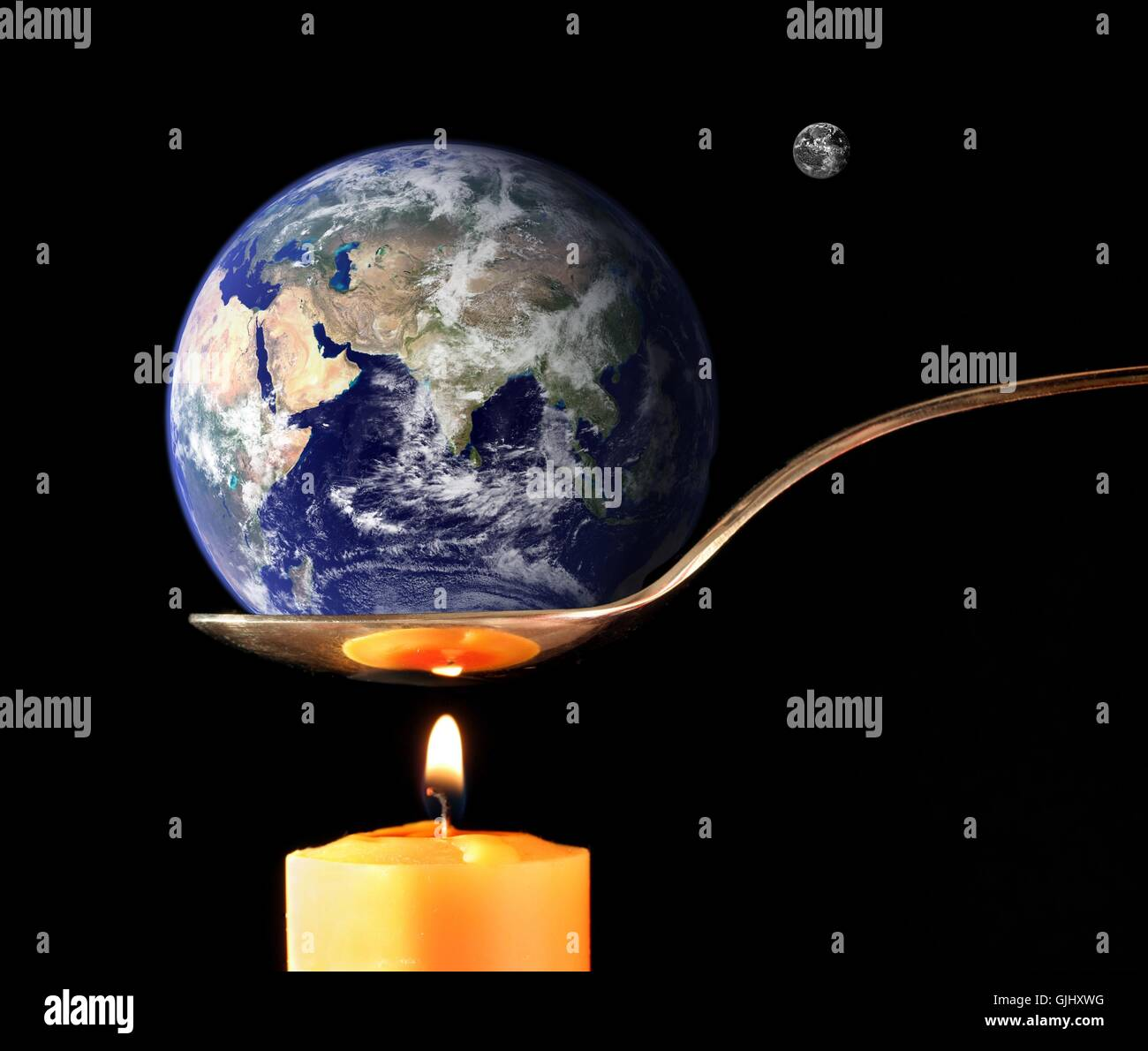 heat globe planet Stock Photo