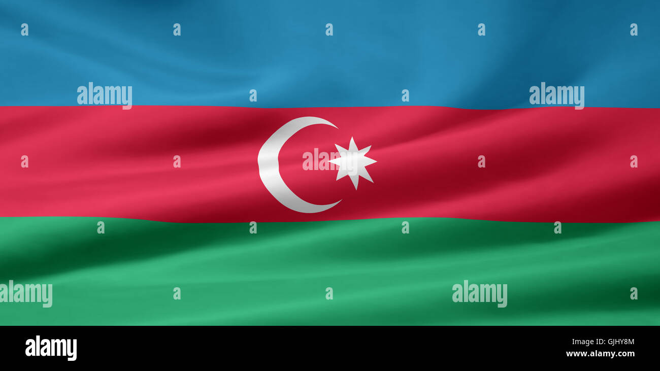 azerbaijani flag - Stock Image