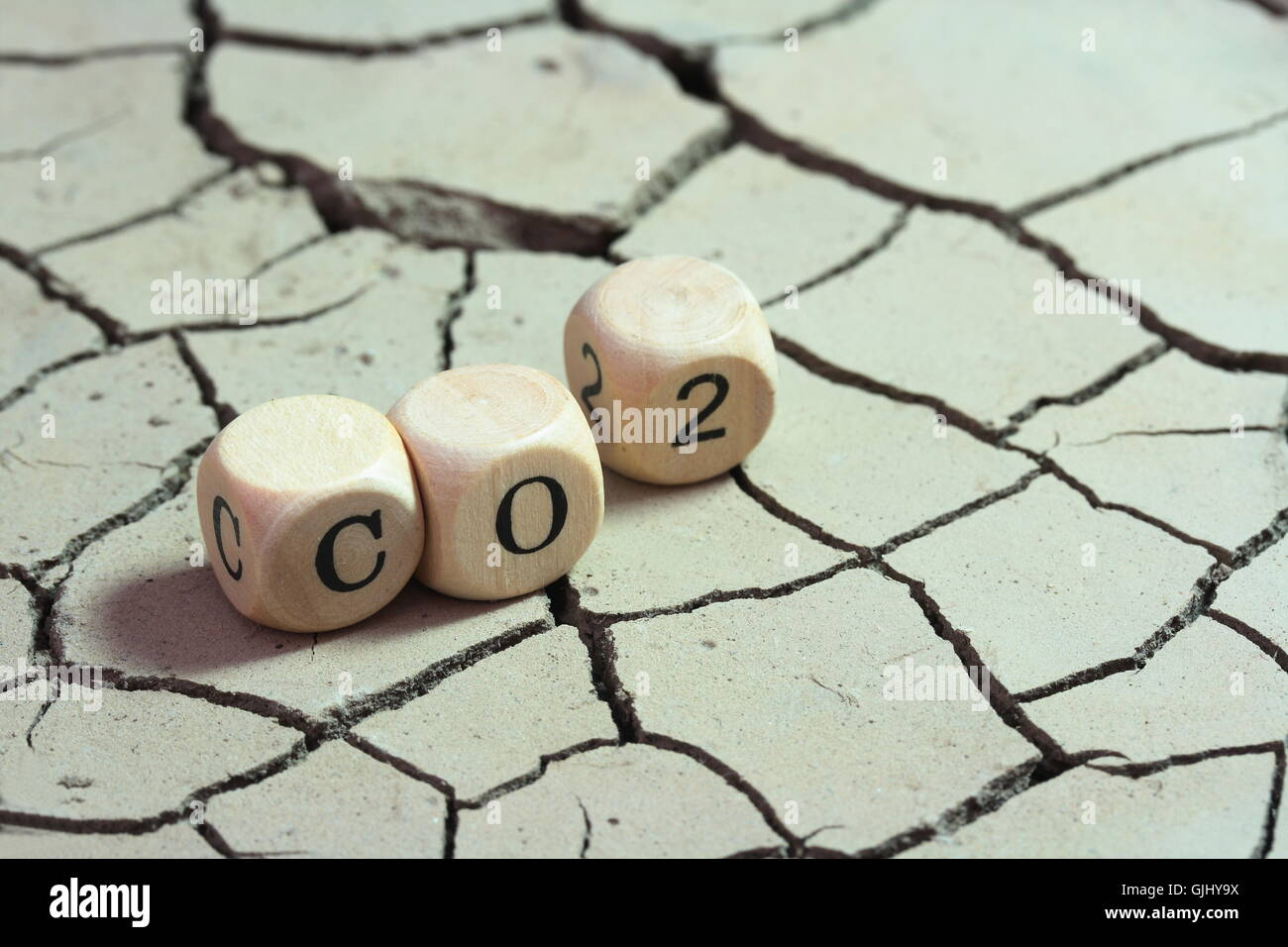 dryness emission greenhouse effect - Stock Image
