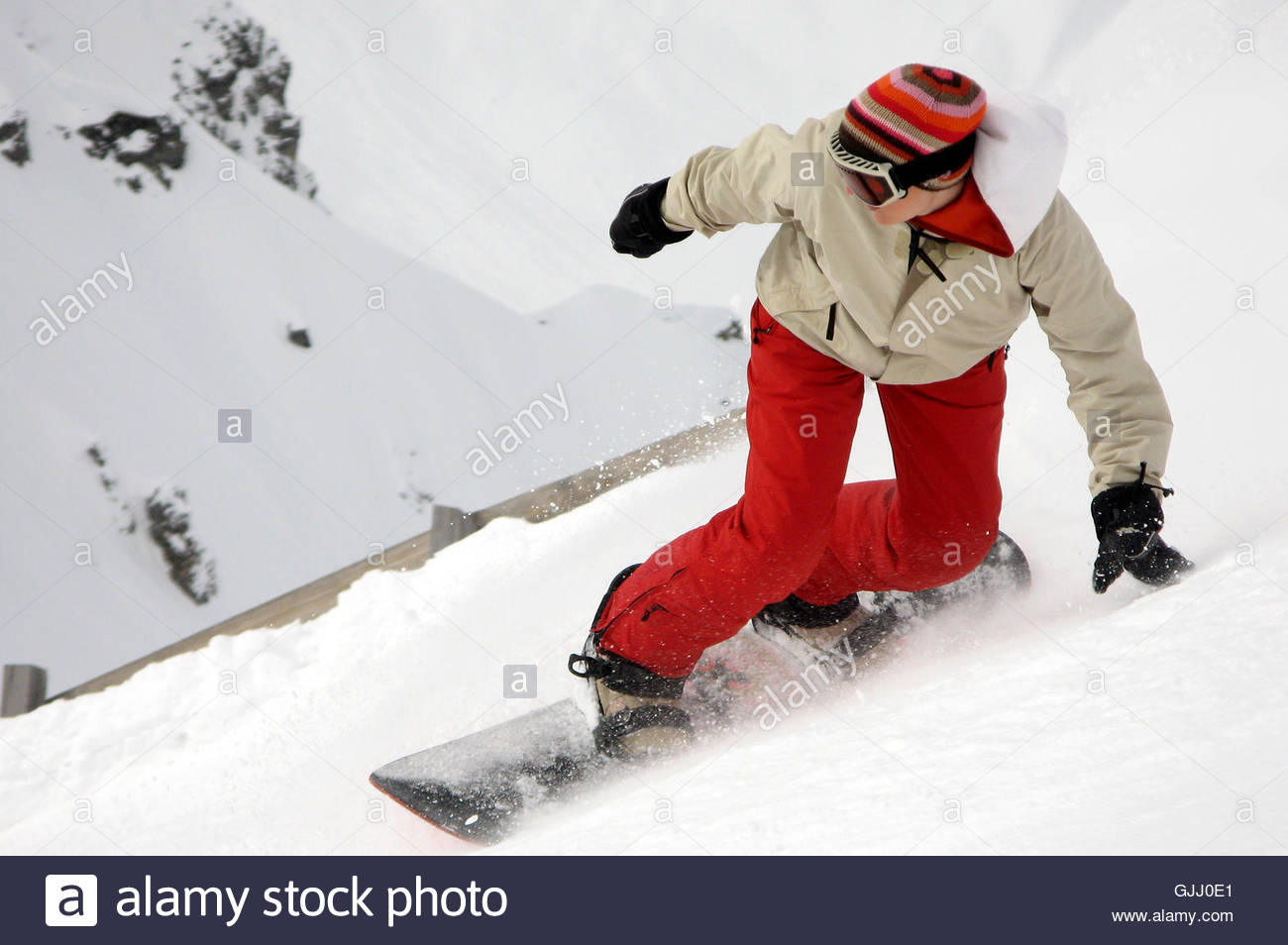 steep descent - Stock Image