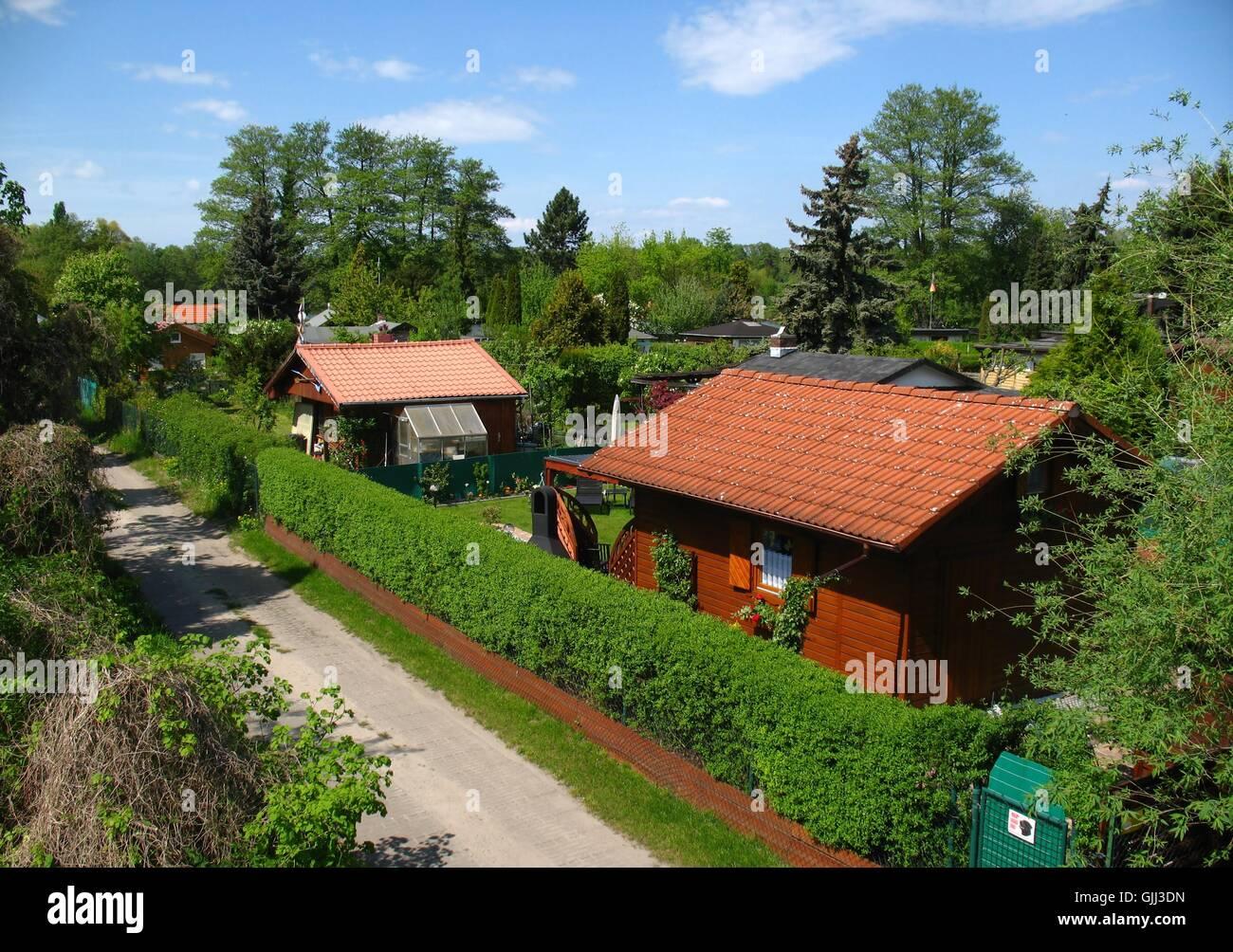 garden gardens arbor Stock Photo