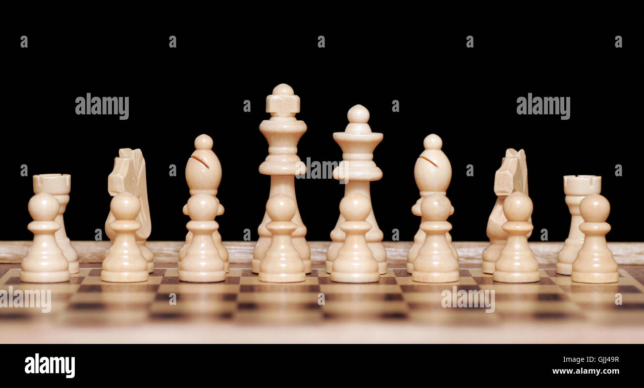 board chess queen - Stock Image