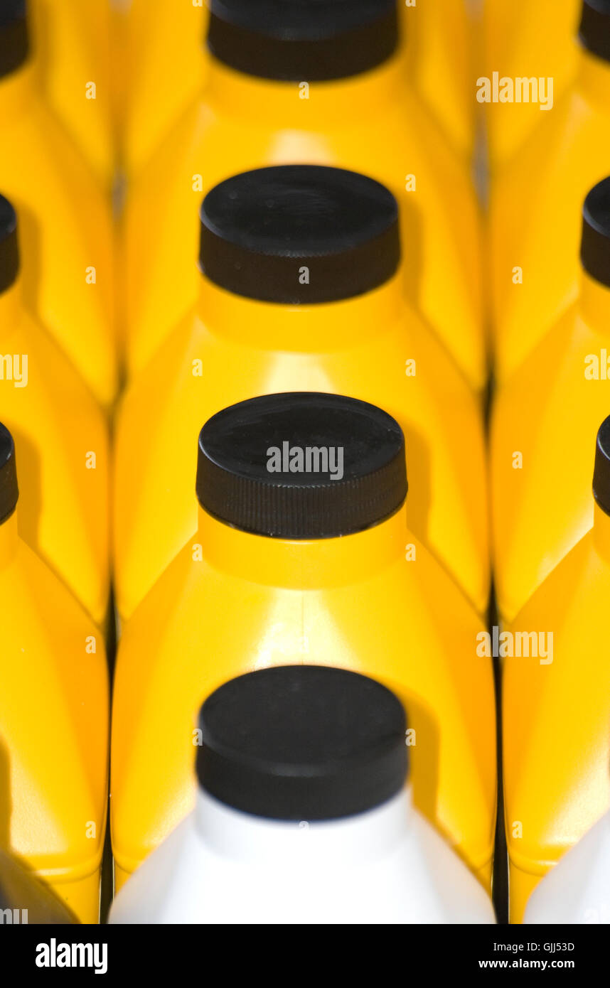 bottle plastic synthetic material - Stock Image