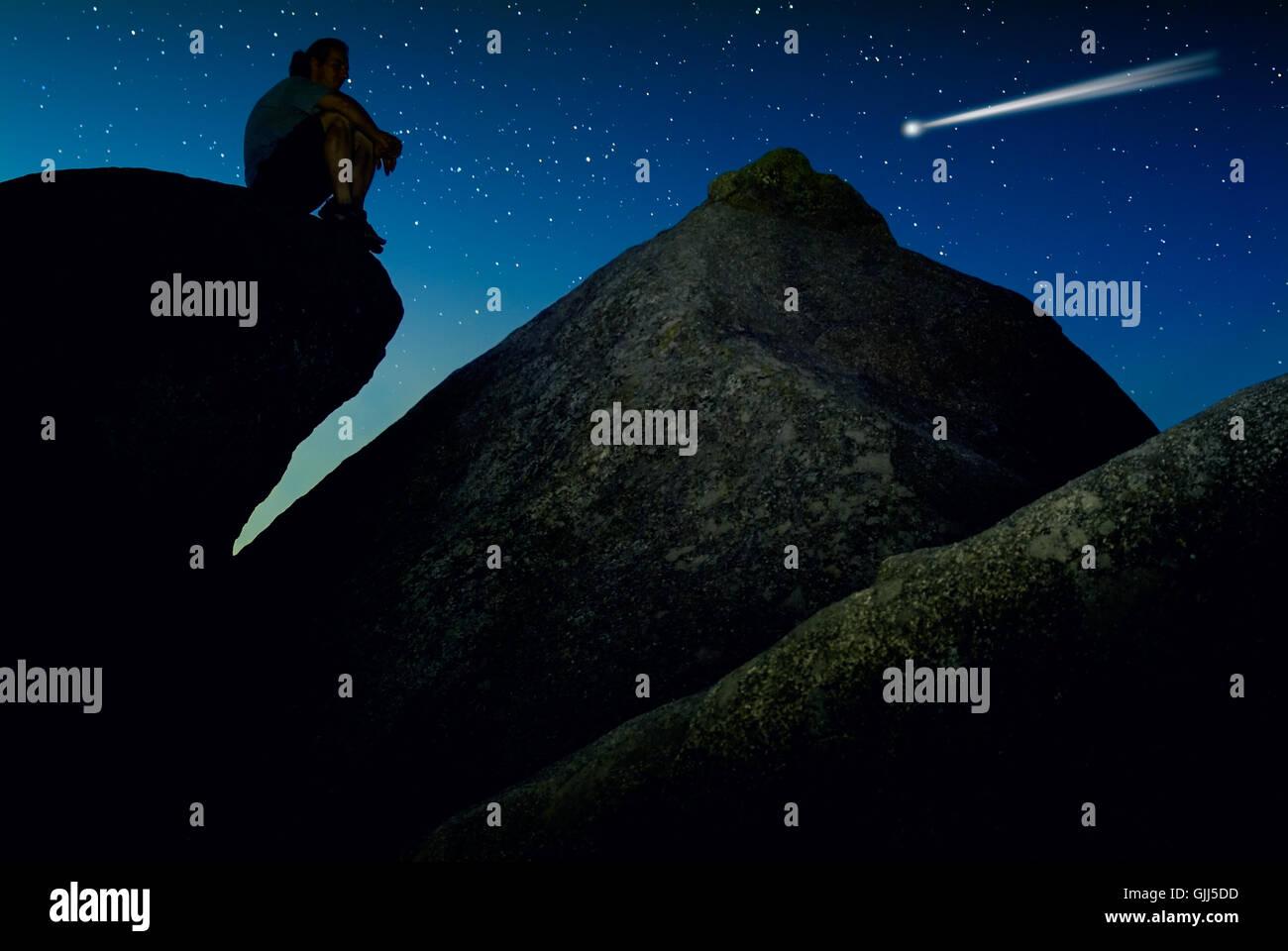 stone rock mysticism - Stock Image