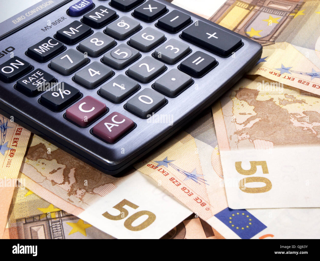 calculation accounting bank note stock image
