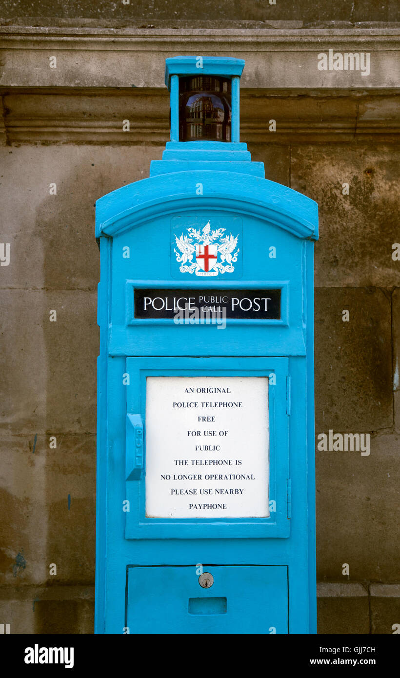 LONDON Emergency telephone for public police matters - Stock Image