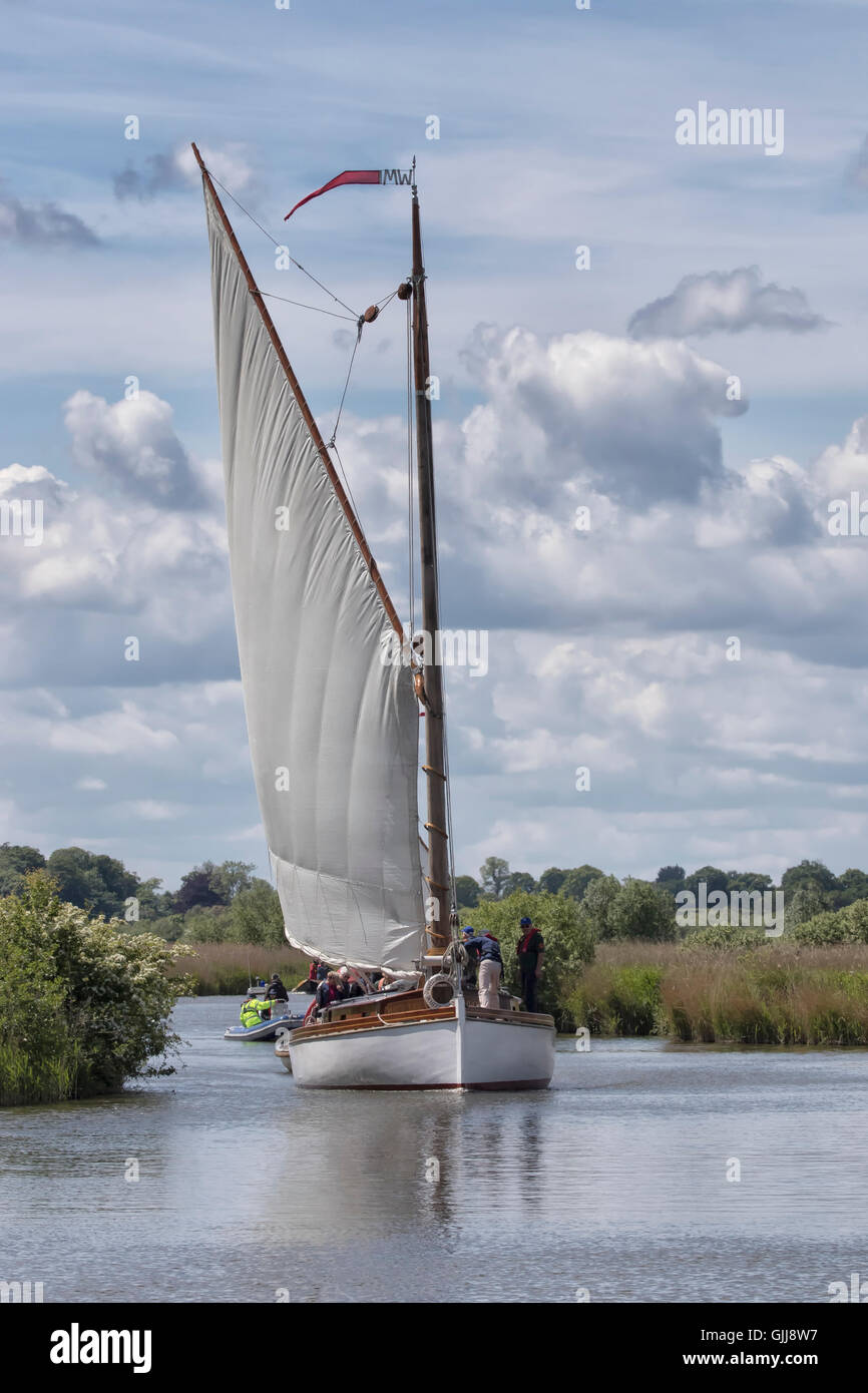 Norfolk Wherries Stock Photo