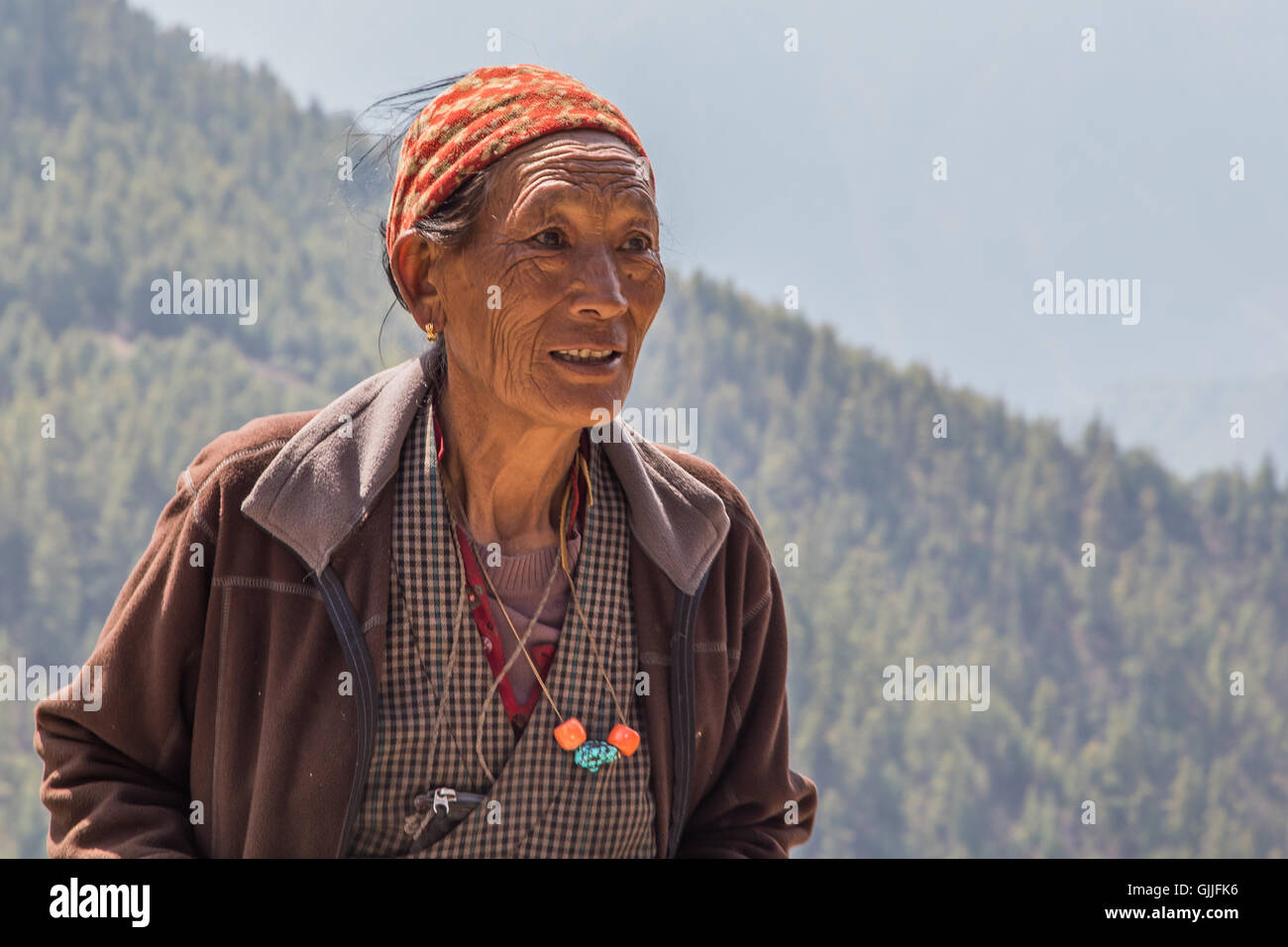 Nepalese woman - Stock Image