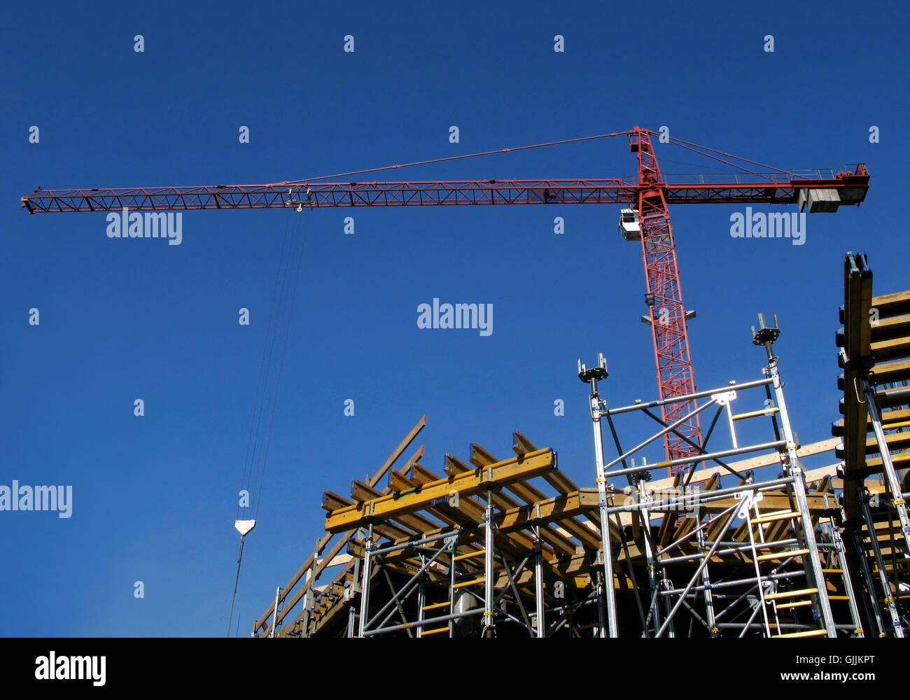 house building upwards Stock Photo