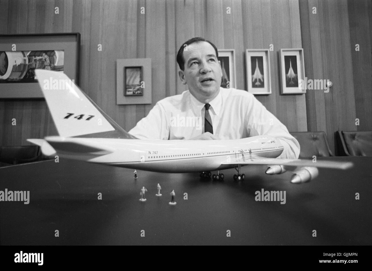 Joe Sutter of the Boeing Airplane Company - Stock Image