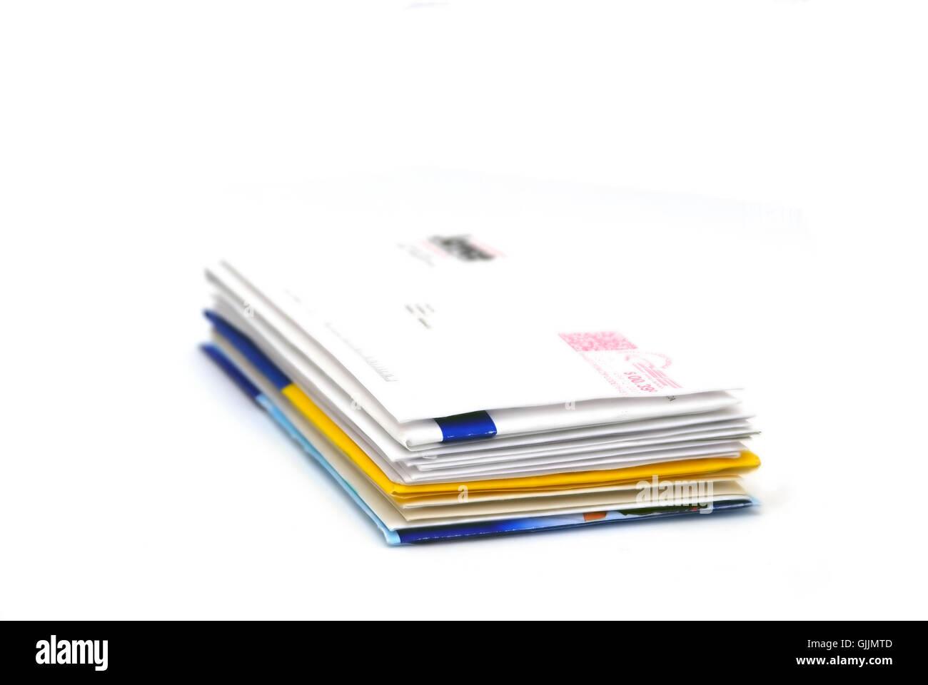 communication address correspondence - Stock Image