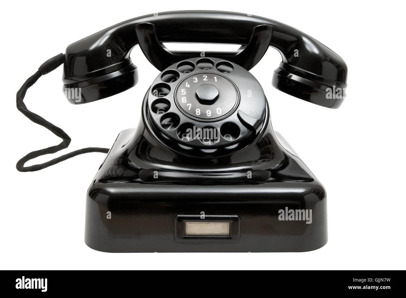 antique telephone - Stock Image