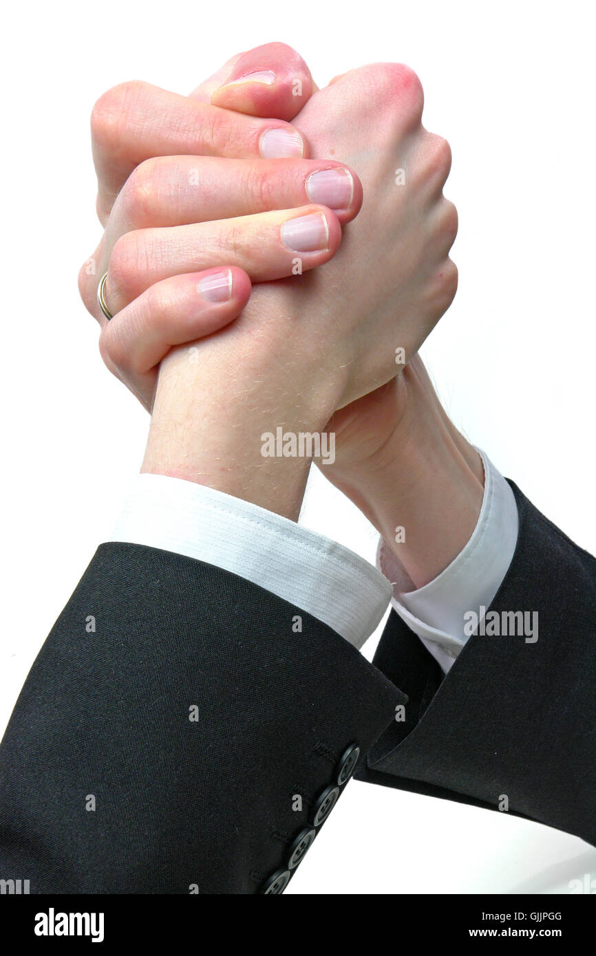 men man hand - Stock Image