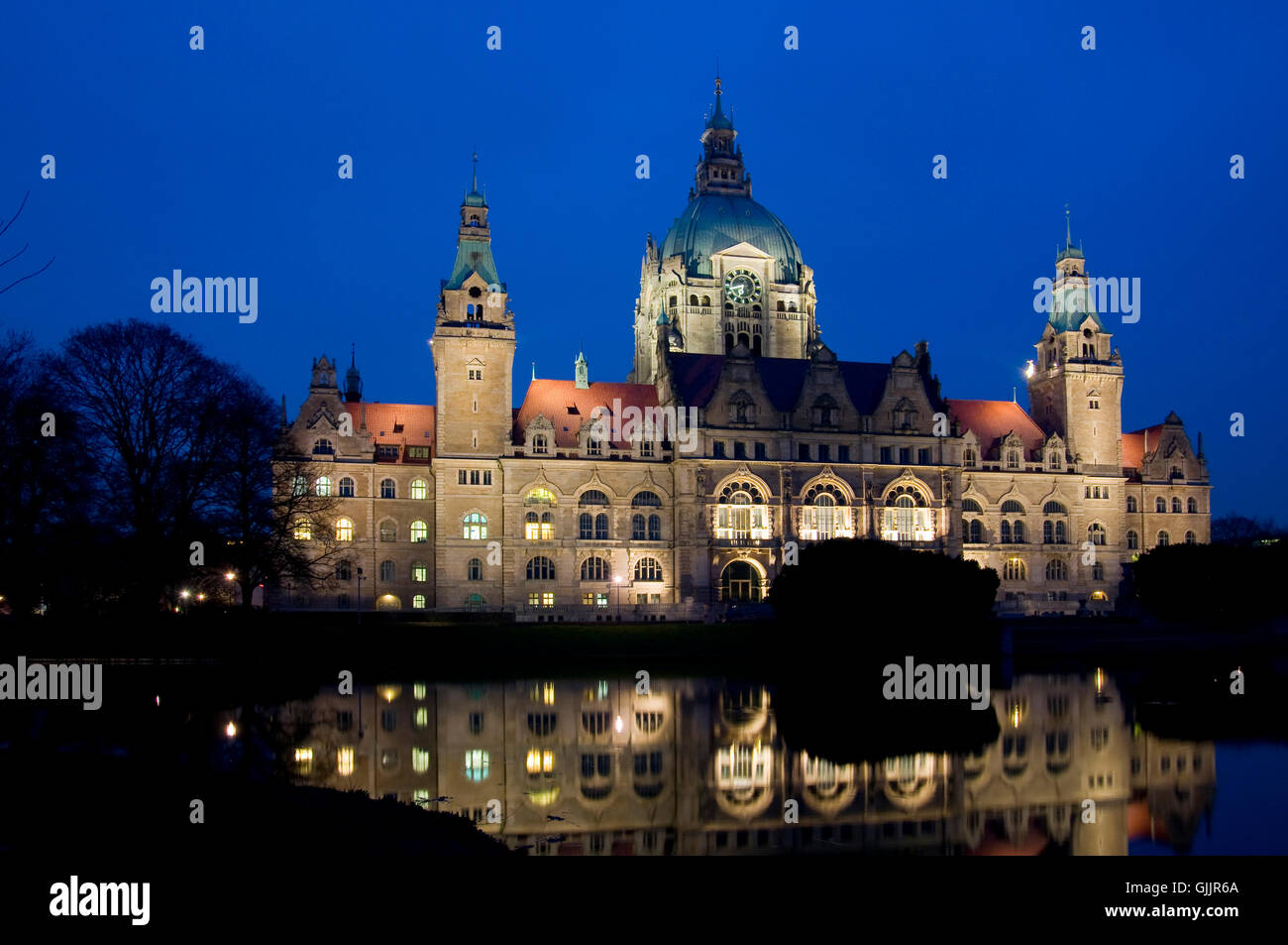neues rathaus hannover - Stock Image
