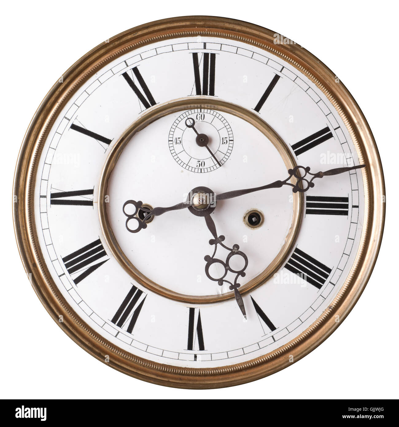 antique face clock - Stock Image