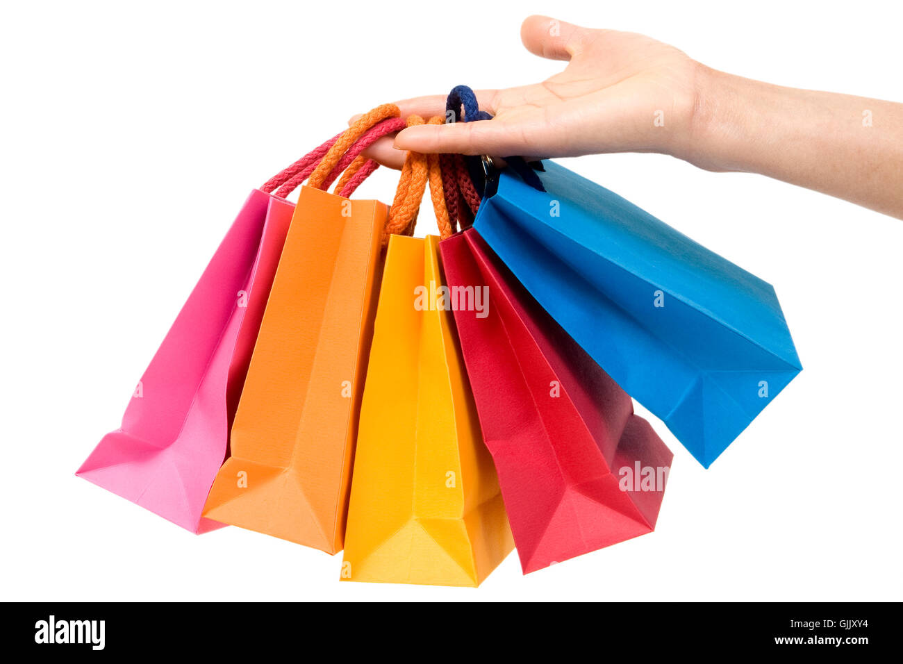 shopping carrying case hand - Stock Image