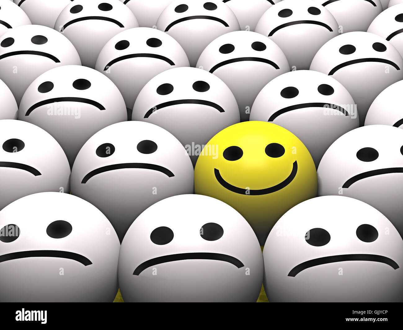 smiley delighted unambitious - Stock Image