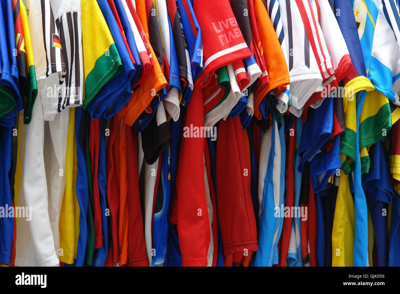 soccer jerseys - Stock Image