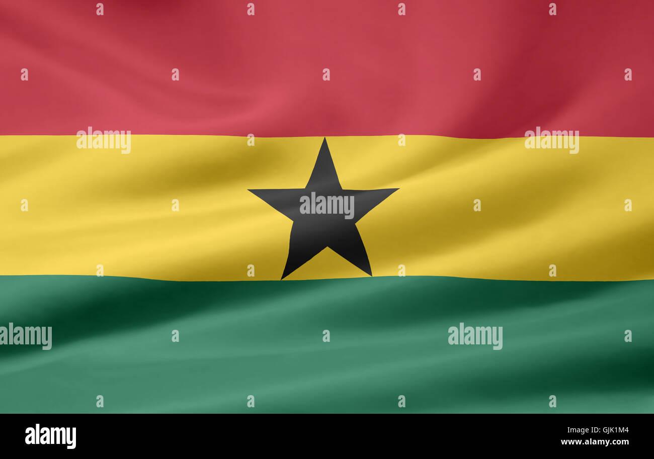 ghanaian flag - Stock Image