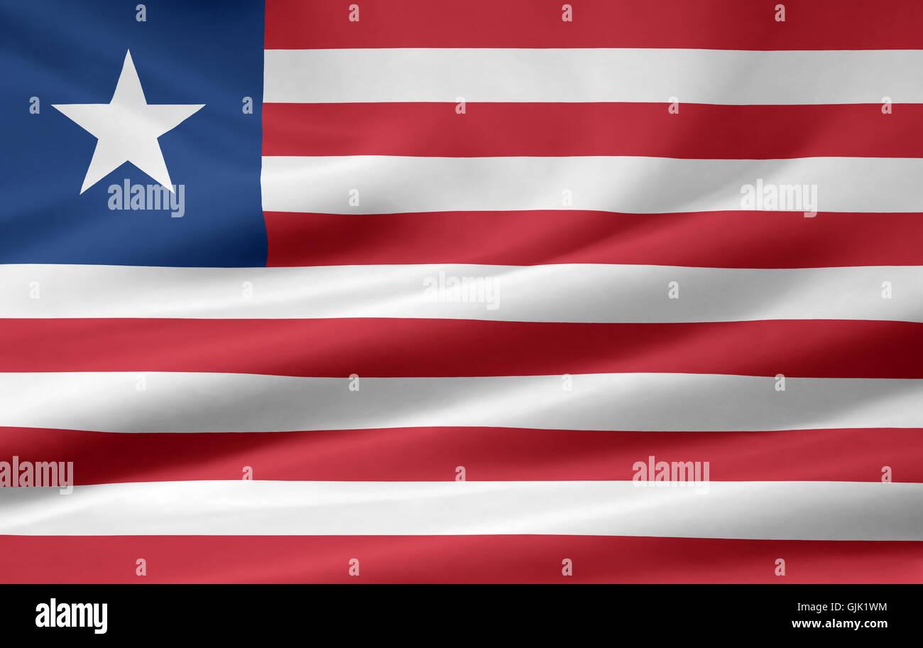 africa flag liberia - Stock Image