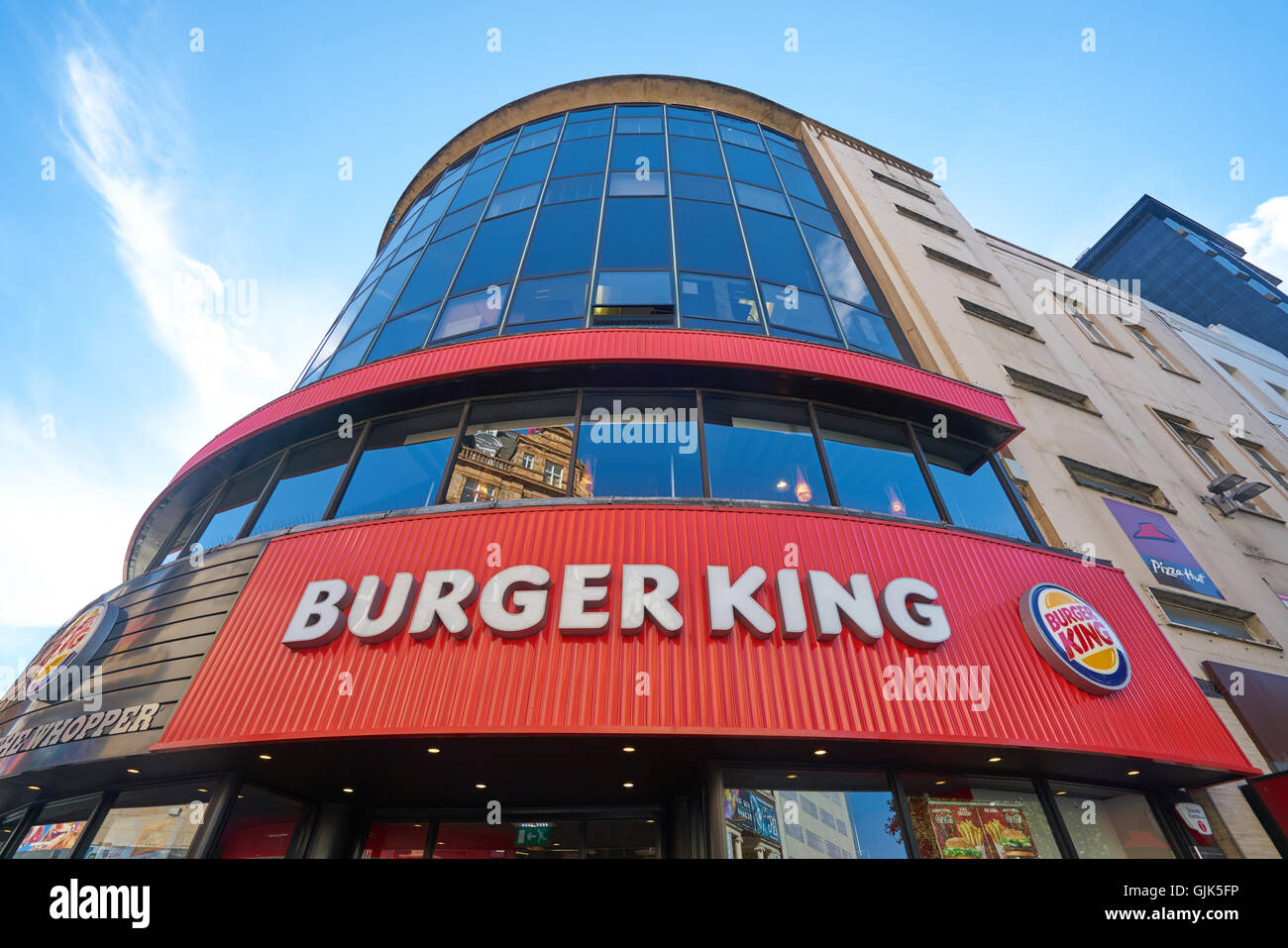 burger King, Leicester Square - Stock Image