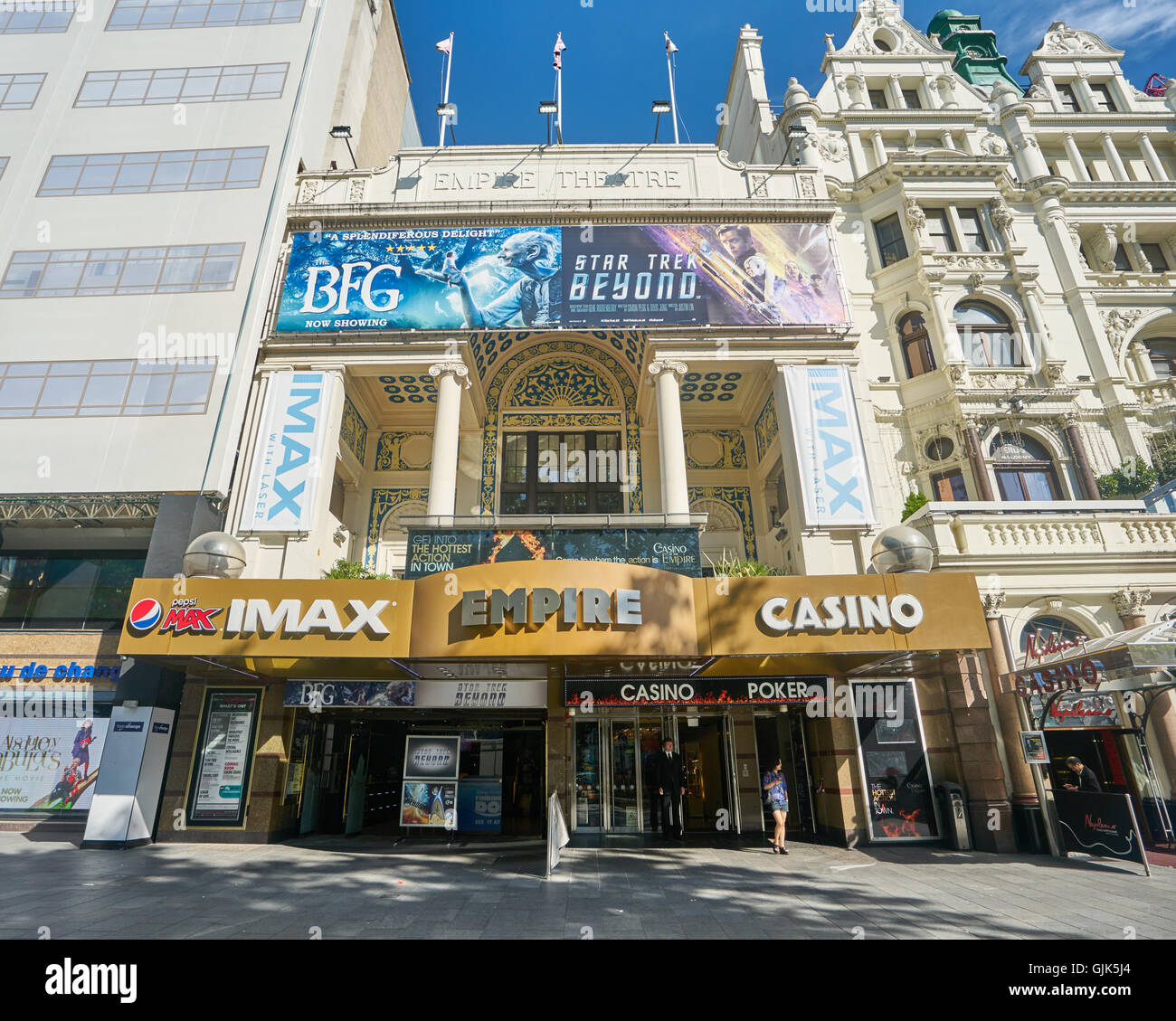 empire, Leicester Square.  IMAX cinema,  London - Stock Image