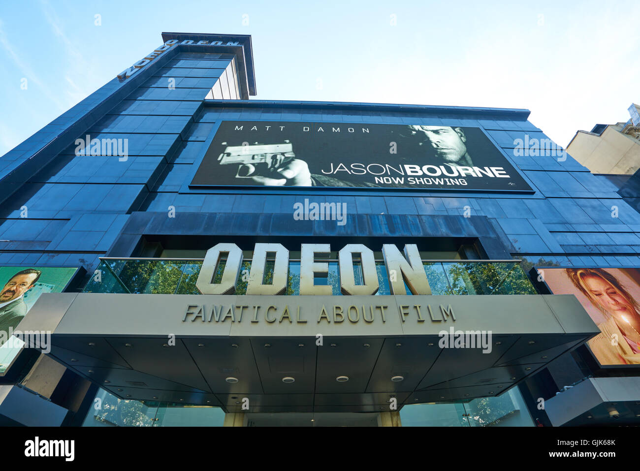 Odeon Cinema Leicester Square London - Stock Image