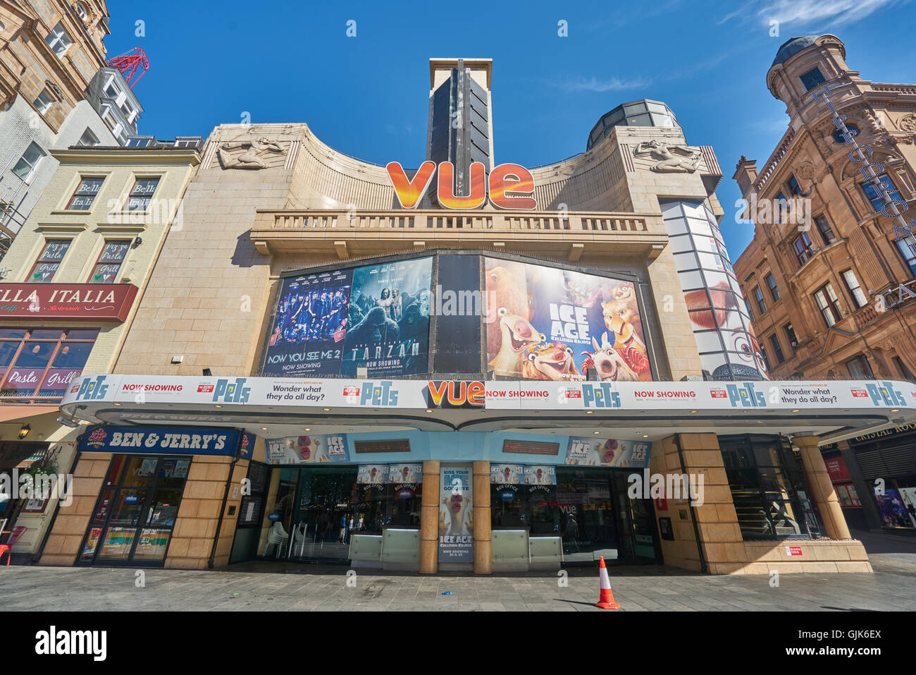 Vue Cinema chain,.  Leicester Square cinema - Stock Image