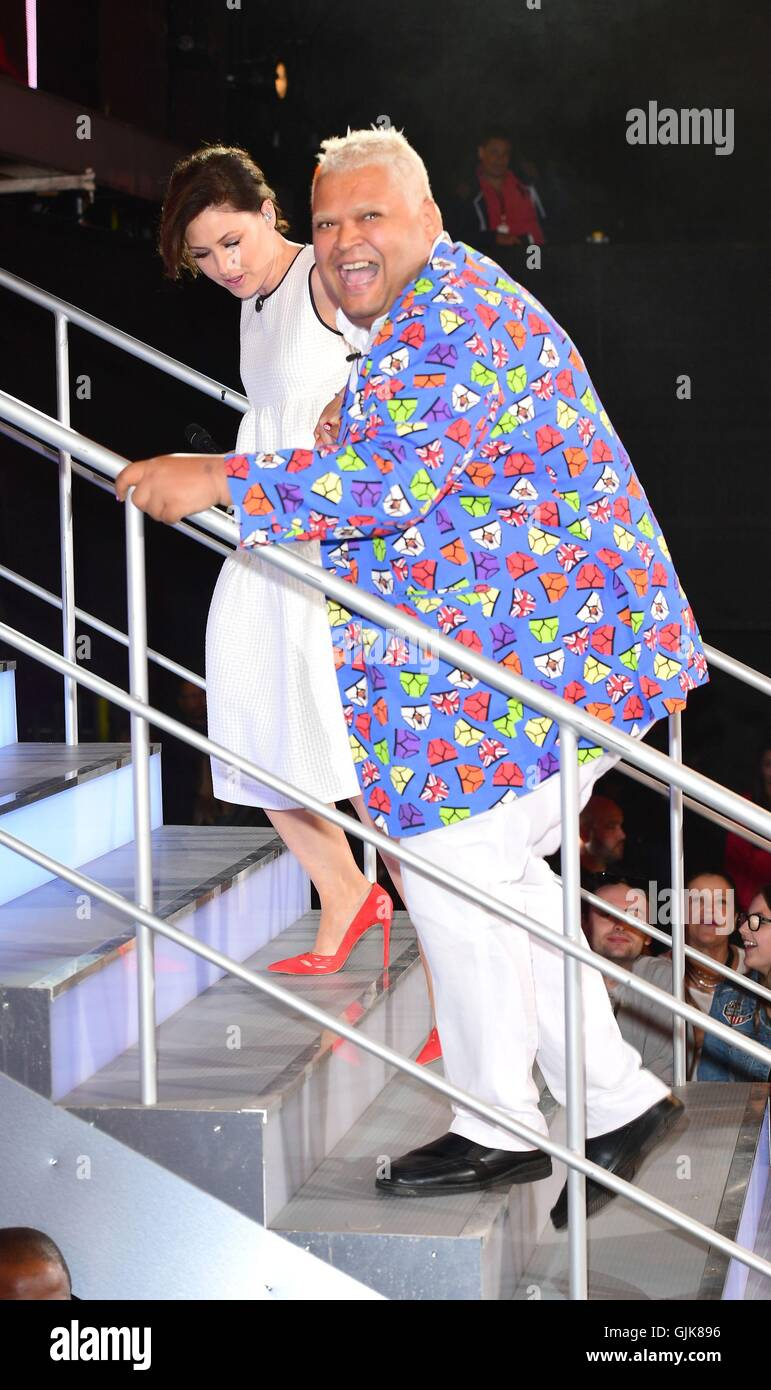 heavy d is evicted from the celebrity big brother house at elstree stock photo alamy alamy