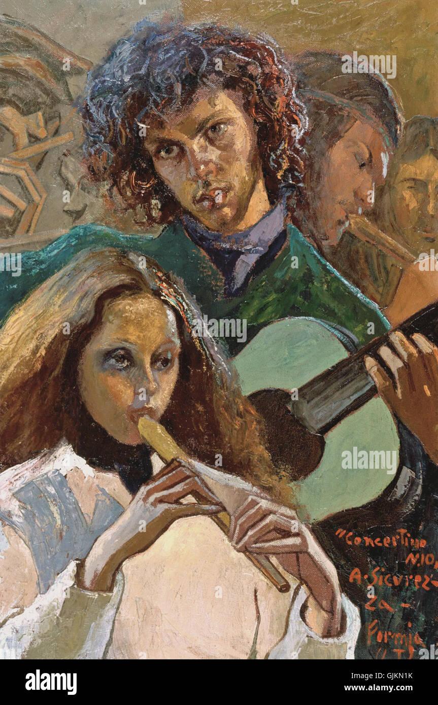 Antonio Sicurezza concertino nr 10 Stock Photo