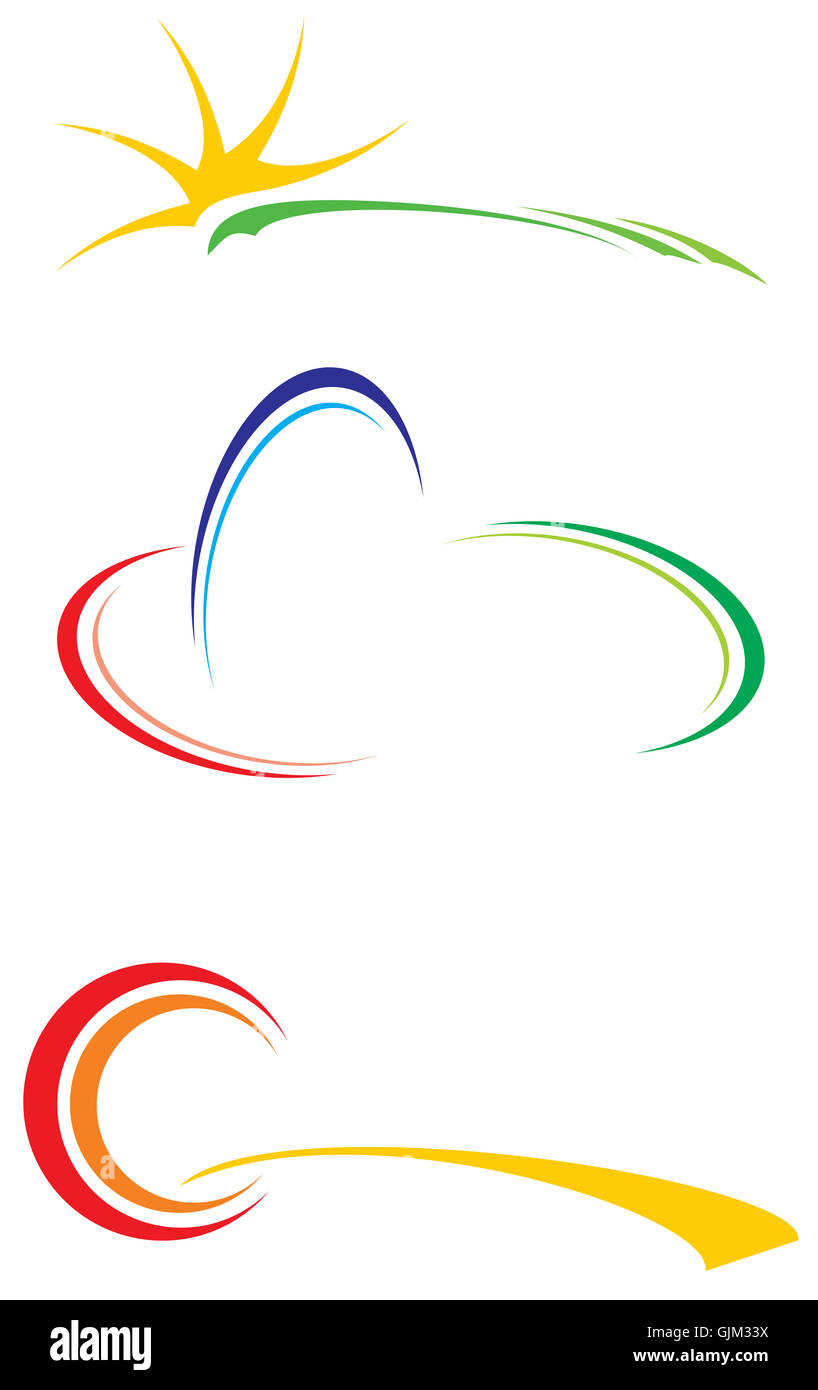 logotype logo travel - Stock Image