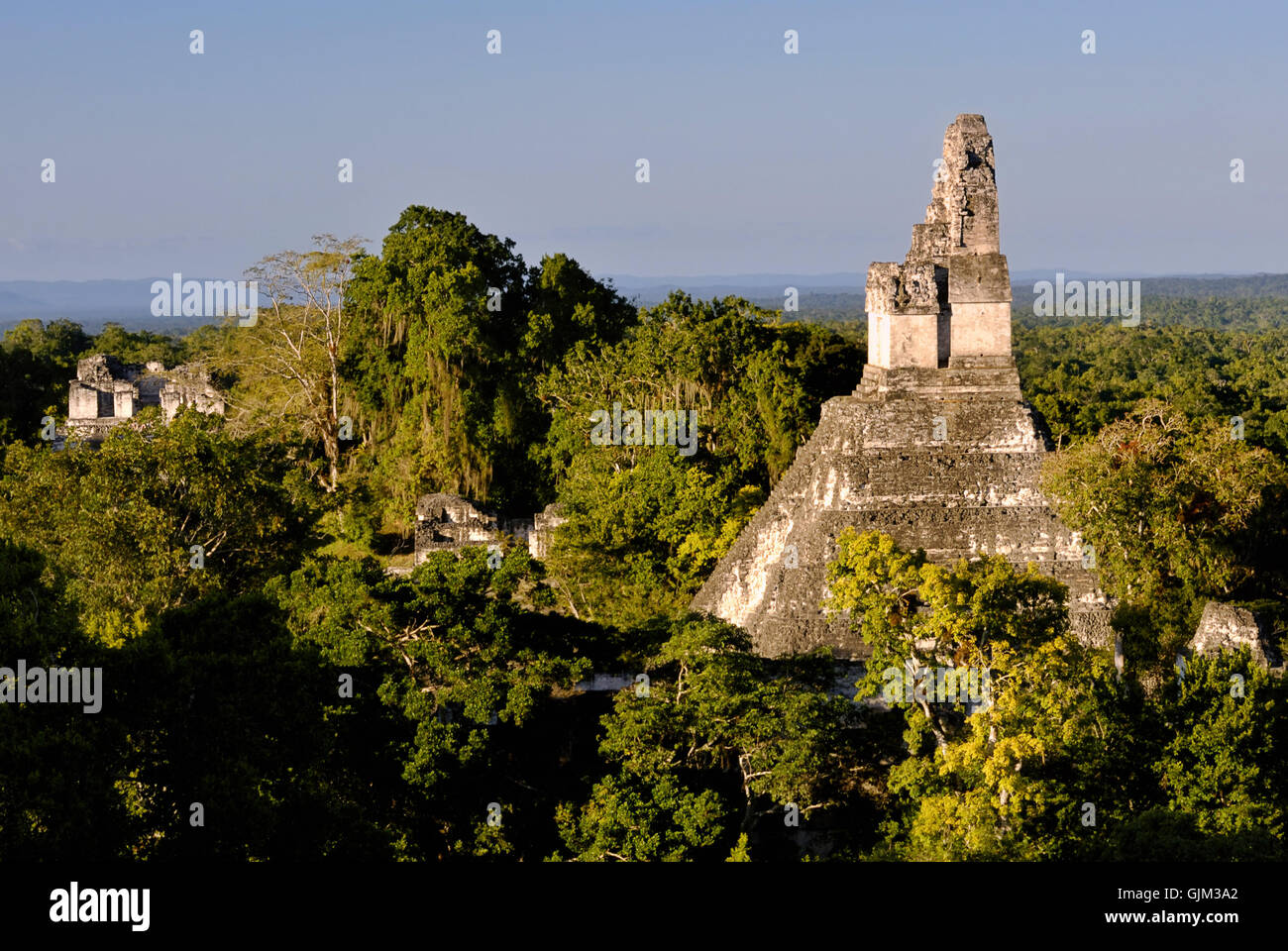 sightseeing central america ruins - Stock Image