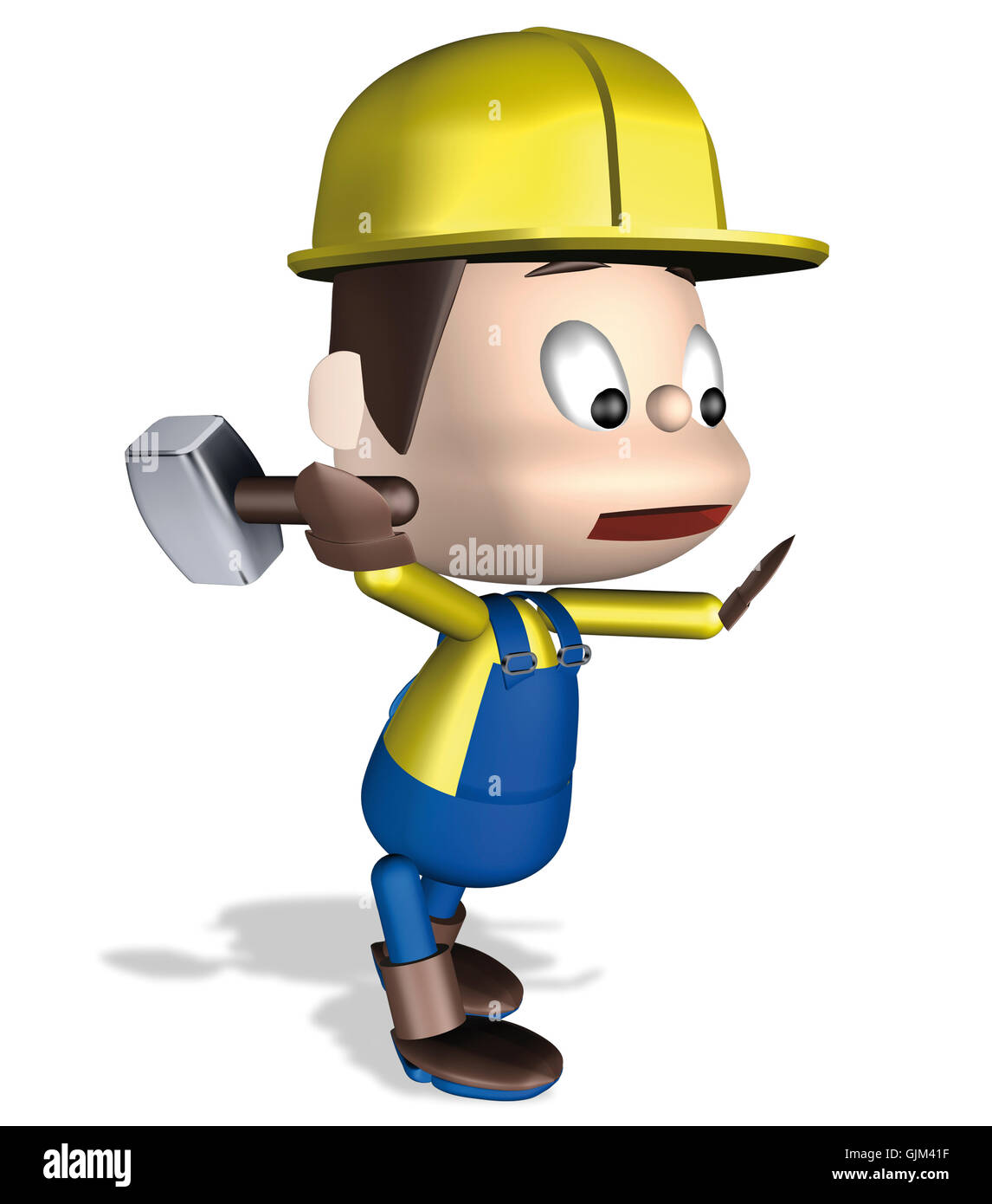 Worker hammer - Stock Image