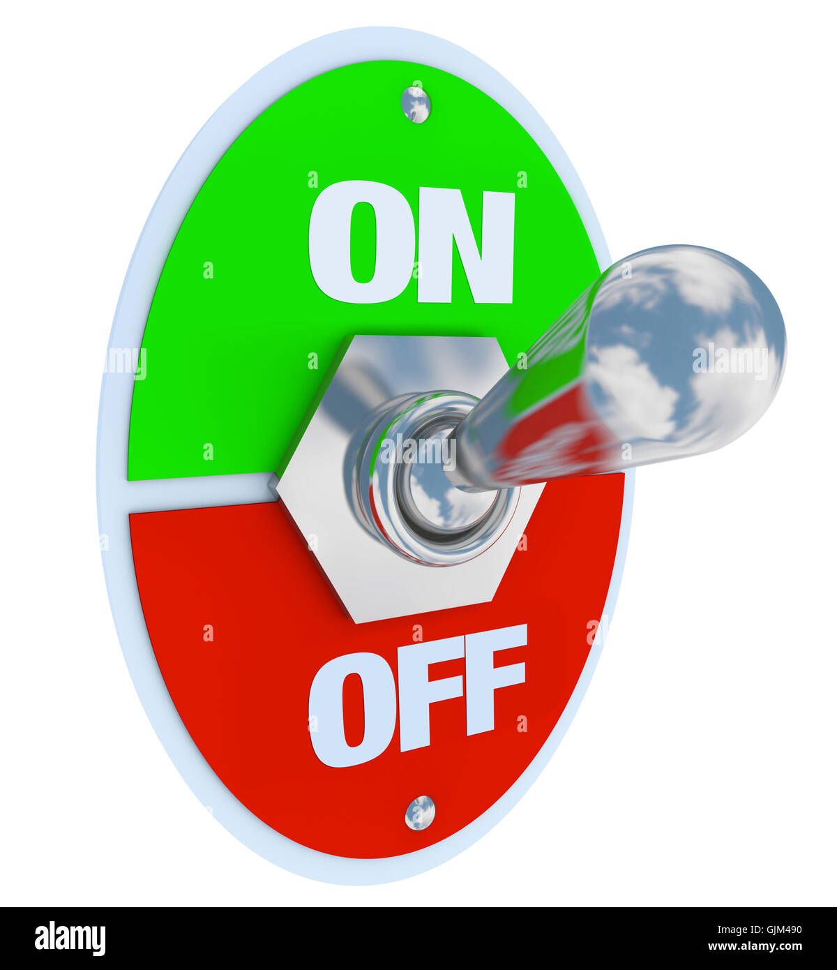 On and Off - Toggle Switch - Stock Image