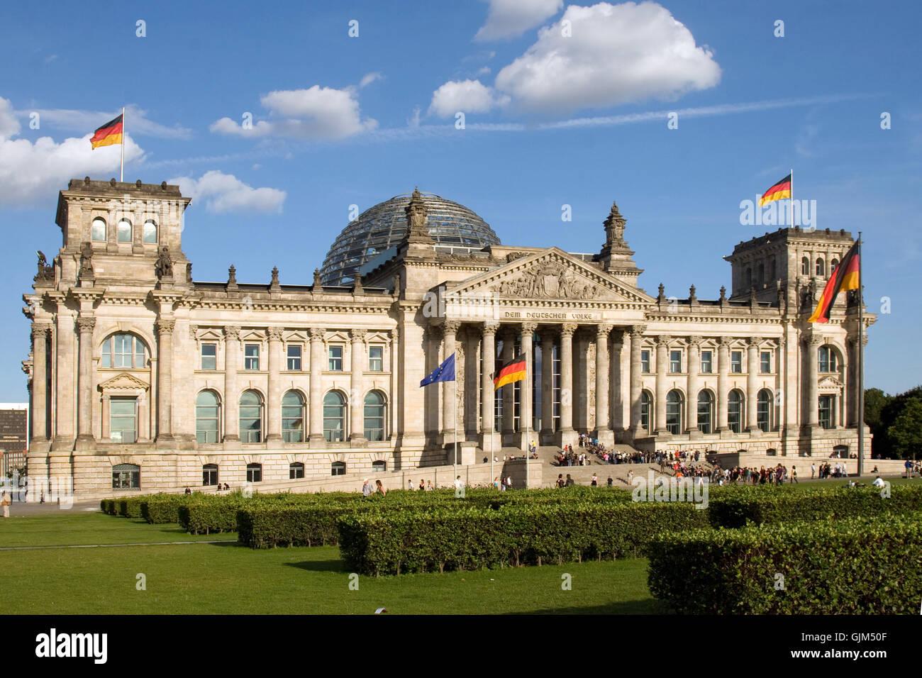 parliament bundestag german parliament (lower house) - Stock Image