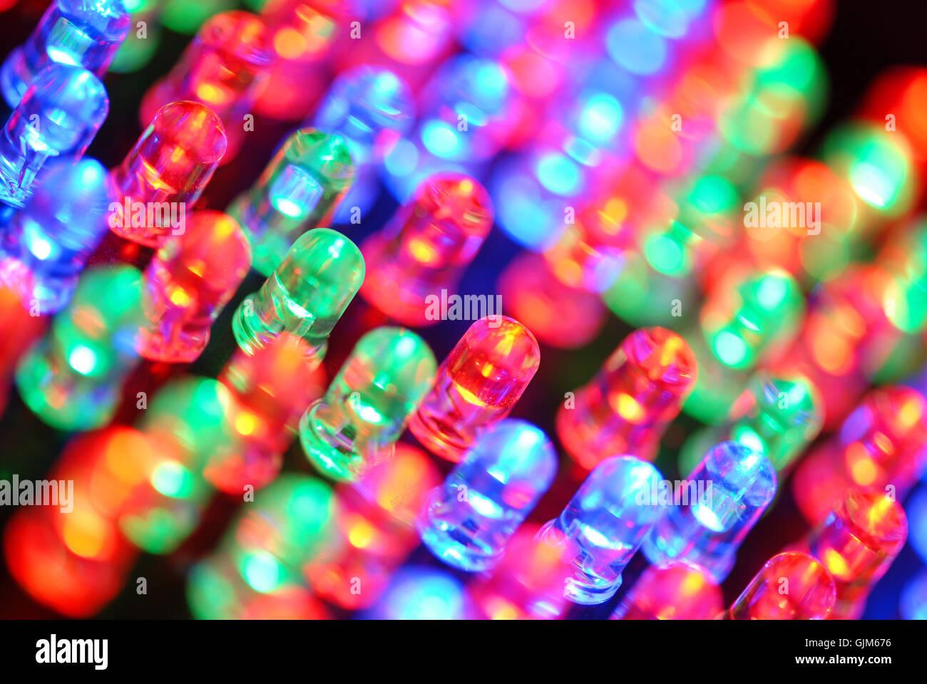 rgb diode light-emitting diode Stock Photo