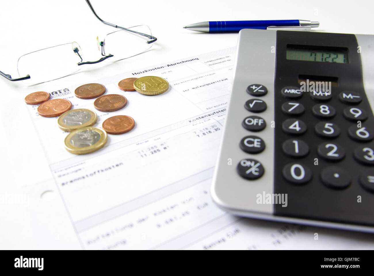 heating rent costs incidental to sth. - Stock Image